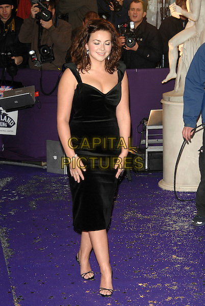 CHARLOTTE CHURCH.British Comedy Awards 2006, London Television Studios, London, UK. - Arrivals.December 13th, 2006.full length black dress.CAP/PL.©Phil Loftus/Capital Pictures