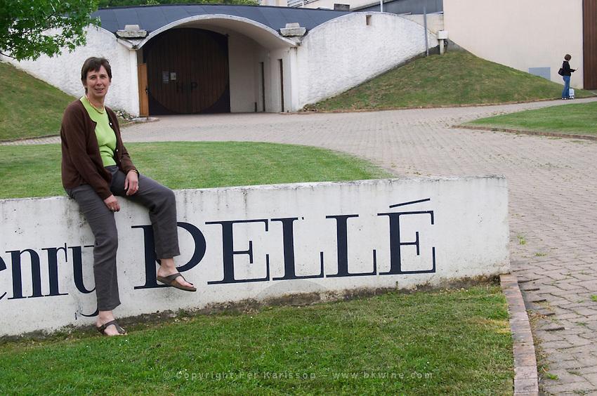 Winery building. Anne Pelle, owner, winemaker. Domaine Henry Pelle, Menetou Salon, Loire, France