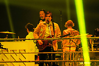LONDON, ENGLAND - APRIL 12: Win Butler and Will Butler of 'Arcade Fire' performing at SSE Arena on April 12, 2018 in London, England.<br /> CAP/MAR<br /> &copy;MAR/Capital Pictures