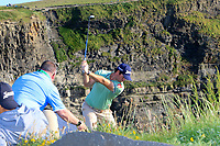 during the Pro-Am of the Irish Open at LaHinch Golf Club, LaHinch, Co. Clare on Wednesday 3rd July 2019.<br /> Picture:  Thos Caffrey / Golffile<br /> <br /> All photos usage must carry mandatory copyright credit (© Golffile   Thos Caffrey)