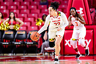 College Park, MD - NOV 29, 2017: Maryland Terrapins guard Blair Watson (22) in action during ACC/Big Ten Challenge game between Gerogia Tech and the No. 7 ranked Maryland Terrapins. Maryland defeated The Yellow Jackets 67-54 at the XFINITY Center in College Park, MD.  (Photo by Phil Peters/Media Images International)