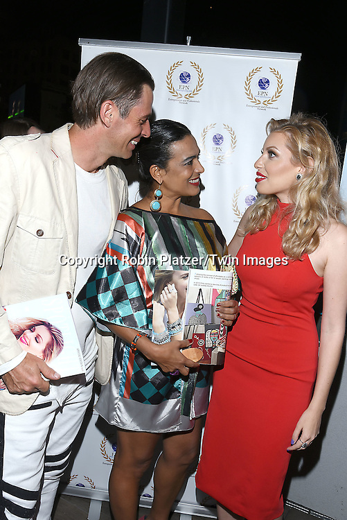 Thomas Grassberger, wife Chris Barreto &amp; Dalal Bruchmann attends the &quot;EPN Spotlight Magazine&quot;  launch party on June 10, 2016 at the Renaissance NY Hotel in New York, New York, USA. Dalal Bruchmann is the cover model.<br /> <br /> photo by Robin Platzer/Twin Images<br />  <br /> phone number 212-935-0770
