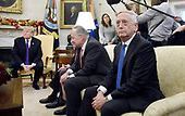 United States Secretary Secretary of Defense Jim Mattis  looks on during a meeting between U.S. President Donald Trump and Congressional leadership in the Oval Office  of the White House , December 7, 2017 in Washington, DC.  <br /> Credit: Olivier Douliery / Pool via CNP