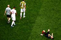 MOSCU - RUSIA, 11-07-2018: Ivan PERISIC jugador de Croacia celebra el paso a la final de su equipo después del partido de Semifinales entre Croacia y Inglaterra por la Copa Mundial de la FIFA Rusia 2018 jugado en el estadio Luzhnikí en Moscú, Rusia. / Ivan PERISIC player of Croatia celebrates the pass of his team to the final after the match between Croatia and England of Semi-finals for the FIFA World Cup Russia 2018 played at Luzhniki Stadium in Moscow, Russia. Photo: VizzorImage / Julian Medina / Cont