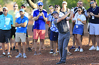 Eddie Pepperell (ENG) on the 18th during the 1st round of the DP World Tour Championship, Jumeirah Golf Estates, Dubai, United Arab Emirates. 15/11/2018<br /> Picture: Golffile | Fran Caffrey<br /> <br /> <br /> All photo usage must carry mandatory copyright credit (&copy; Golffile | Fran Caffrey)