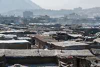 The Chamne Babrak refugee camp in Kabul 2-1-14