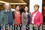 Ted O'Shea (National Service Users Executive; from Killarney) Mary Shanahan (Lixnaw) Grace Brosnan (Killarney) and Frances Brosnan (Lixnaw) pictured at the Mental Wellness event held in the Malton hotel, Killarney, on Sunday last.
