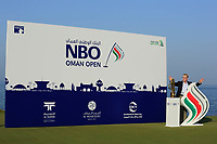 Keith Pelley, CEO European Tour at the prizegiving after the final round of the NBO Open played at Al Mouj Golf, Muscat, Sultanate of Oman. <br /> 18/02/2018.<br /> Picture: Golffile | Phil Inglis<br /> <br /> <br /> All photo usage must carry mandatory copyright credit (&copy; Golffile | Phil Inglis)
