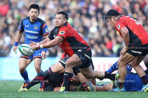 Hiroki Yuhara (), DECEMBER 12, 2015 - Rugby : Japan Rugby Top League 2015-2016 match between Toshiba Brave Lupus 17-17 Panasonic Wild Knights at Chichibunomiya Rugby Stadium, Tokyo, Japan. (Photo by Naoto Akasaka/AFLO)