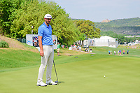 Dustin Johnson (USA) barely misses his putt on 16 during round 6 of the World Golf Championships, Dell Technologies Match Play, Austin Country Club, Austin, Texas, USA. 3/26/2017.<br /> Picture: Golffile | Ken Murray<br /> <br /> <br /> All photo usage must carry mandatory copyright credit (&copy; Golffile | Ken Murray)