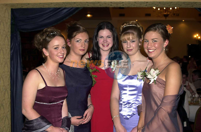Teresa Corrigan, Fiona Roach, Caroline English, Michele Kelly and Aoife Dylan at the Greenhills Grad in Athboy.Picture Fran Caffrey Newsfile