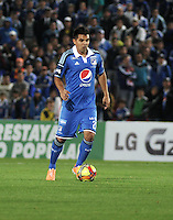 BOGOTA- COLOMBIA -19 -02-2014: Harrison Otalvaro, jugador de Millonarios durante partido de la sexta fecha de la Liga Postobon I 2014, jugado en el Nemesio Camacho El Campin de la ciudad de Bogota. / Harrison Otalvaro, player of Millonarios during a match for the sixth date of the Liga Postobon I 2014 at the Nemesio Camacho El Campin Stadium in Bogoto city. Photo: Luis Ramirez / Staff