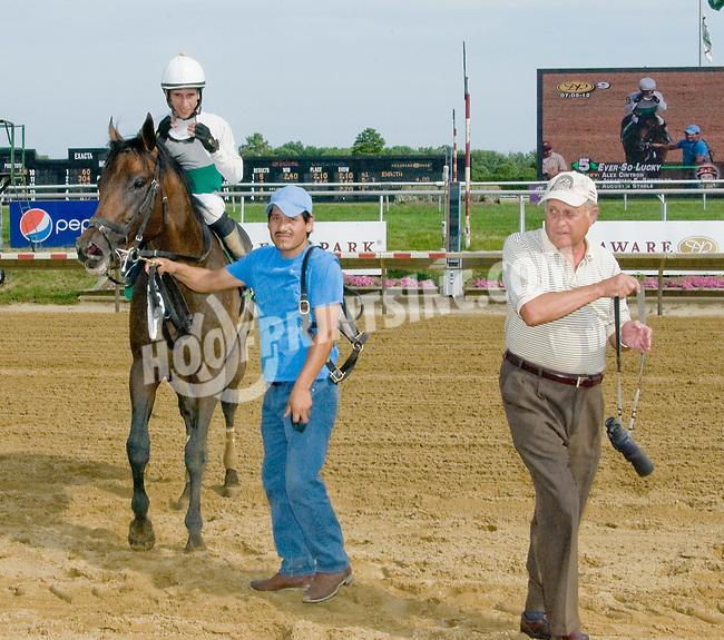 Ever So Lucky winning at Delaware Park on 7/5/12