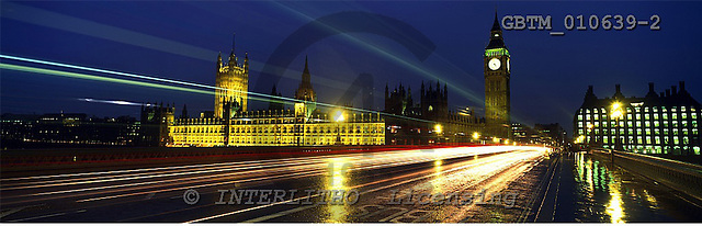 Tom Mackie, LANDSCAPES, panoramic, photos, Big Ben & Houses of Parliament, London, England, GBTM010639-2,#L#