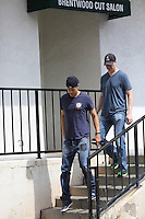 March 29 2014 Brentwood Josh Duhamel sighting in Brentwood California after attending a meeting with Mix Martial Arts Fighters<br />