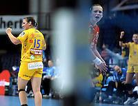 Handball Frauen / Damen  / women 1. Bundesliga - DHB - HC Leipzig : Frankfurter HC - im Bild: Ania Rösler (l.) konnte punkten. Foto: Norman Rembarz .