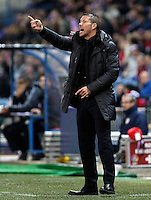Atletico de Madrid's coach Diego Pablo Simeone during Europa League match.February 23,2012. (ALTERPHOTOS/Acero) .Atletico Madrid Lazio Europa League.Italy Only