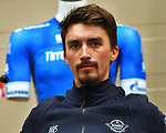 Julian Alaphilippe (FRA) Deceuninck-Quick-Step at top riders press conference in Lido di Camaiore start venue ahead of the 54th Tirreno-Adriatico 2019 stage race, Italy. 12th March 2019.<br /> Picture: LaPresse/Gian Mattia D'Alberto | Cyclefile<br /> <br /> <br /> All photos usage must carry mandatory copyright credit (© Cyclefile | LaPresse/Gian Mattia D'Alberto)
