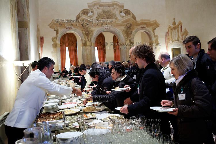 Vicenza: militanti della Lega Nord nella villa palladiana La Favorita per la presentazione del parlamento padano.