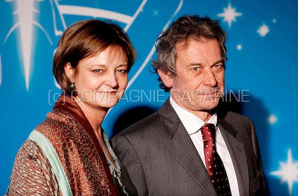 Luk De Koninck and his wife at the Nacht van de Vlaamse Televisiesterren in Hasselt (Belgium, 06/03/2010)