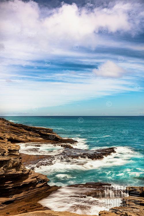 East O'ahu coastline on a sunny day.