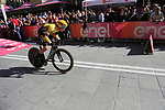 Primoz Roglic (SLO) Team Jumbo-Visma powers off the start ramp of Stage 1 of the 2019 Giro d'Italia, an individual time trial running 8km from Bologna to the Sanctuary of San Luca, Bologna, Italy. 11th May 2019.<br /> Picture: Eoin Clarke | Cyclefile<br /> <br /> All photos usage must carry mandatory copyright credit (© Cyclefile | Eoin Clarke)