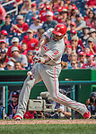 11 September 2016: Philadelphia Phillies first baseman Ryan Howard pinch hits in the 8th inning against the Washington Nationals at Nationals Park in Washington, DC. The Nationals edged out the Phillies 3-2 to take the rubber match of their 3-game series. Mandatory Credit: Ed Wolfstein Photo *** RAW (NEF) Image File Available ***