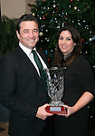 John and Mary Concannon with the SKAL National Leader in Award which he received for his work on the 1916 Commemoration Project throughout Ireland at the annual SKAL dinner in The Brehon Hotel, Killarney. <br /> Photo: Don MacMonagle<br /> <br /> Repro free photo