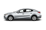 Car Driver side profile view of a 2017 Mazda Mazda3 Sport 4 Door Sedan Side View
