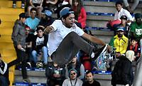BOGOTA - COLOMBIA - 13 - 08 - 2017: Edgar Cervantes, Skater de Mexico, durante competencia en el Primer Campeonato Panamericano de Skateboarding, que se realiza en el Palacio de los Deportes en la Ciudad de Bogota. / Edgar Cervantes, Skater from Mexico, during a competitions in the First Pan American Championship of Skateboarding, that takes place in the Palace of Sports in the City of Bogota. Photo: VizzorImage / Luis Ramirez / Staff.