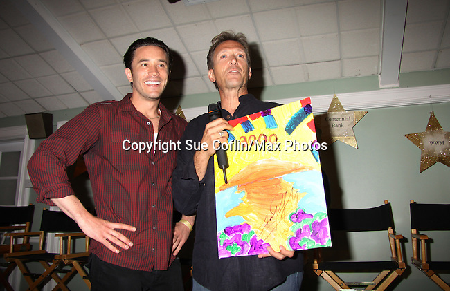 All My Children Walt Willey and Tom Pelphrey at A Night of Stars on May 14 at Bistro Soleil, Olde Marco Inn, Marco Island, Florida - SWFL Soapfest Charity Weekend May 14 & !5, 2011 benefitting several children's charities including the Eimerman Center providing educational & outfeach services for children for autism. see www.autismspeaks.org. (Photo by Sue Coflin/Max Photos)
