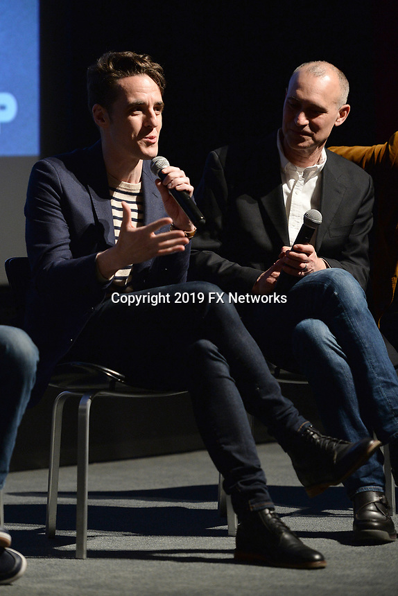 "NEW YORK - APRIL 7: (L-R) Steven Levenson and Joe Fields attend the Q&A after the screening of FX's ""Fosse Verdon"" presented by FX Networks, Fox 21 Television Studios, and FX Productions at the Museum of Modern Art on April 7, 2019 in New York City. (Photo by Anthony Behar/FX/PictureGroup)"