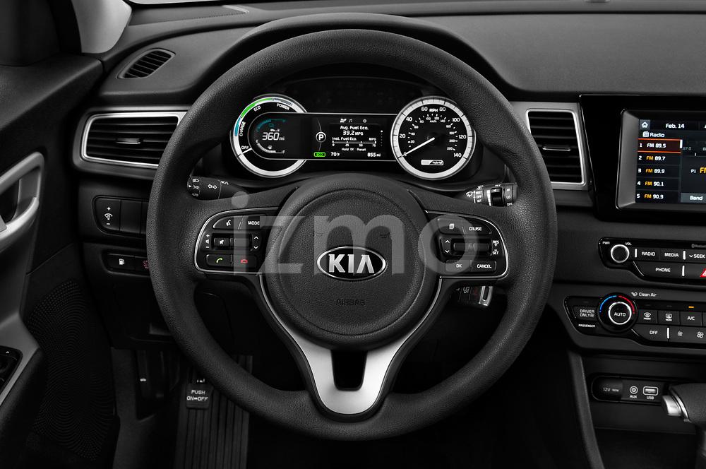 Car pictures of steering wheel view of a 2017 KIA Niro FE 5 Door Hatchback Steering Wheel