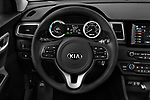 Car pictures of steering wheel view of a 2018 KIA Niro FE 5 Door Hatchback Steering Wheel
