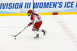 19 MAR 2016: The Division lll Women's Ice Hockey Championship is held at the Ronald B. Stafford Ice Arena in Plattsburgh, NY. Plattsburgh defeated Wis.-River Falls 5-1 for the national title. Nancie Battaglia/NCAA Photos