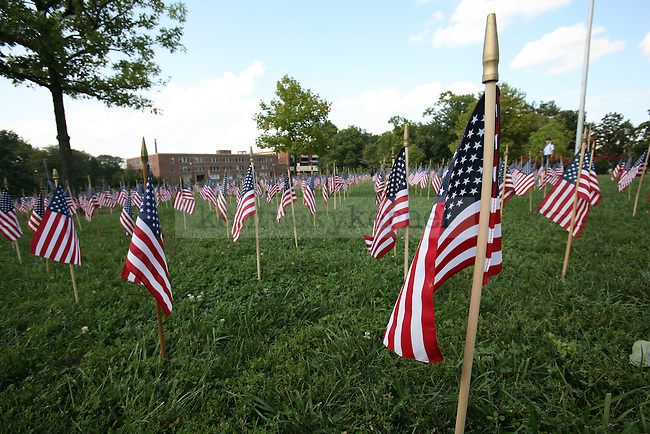 People remember the September, 11 2001 tragedy on September 11, 2009. Photo by Adam Wolffbrandt | Staff.