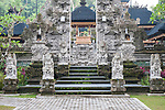 Ubud, Bali, Indonesia; views of the Tjampuhan Temple on an overcast early morning