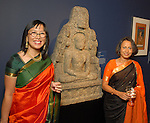 Christine Starkman and Shaila Patel at the Arts of India Gallery launch party at the Museum of Fine Arts Houston Thursday May 14,2009.(Dave Rossman/For the Chronicle)