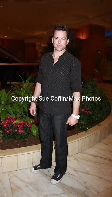 """Young & Restless Michael Muhney """"Adam Newman""""  - Meet & Greet wine tasting event a part of the Soap Opera Festivals Weekend - """"All About The Drama"""" on March 24, 2012 at Bally's Atlantic City, Atlantic City, New Jersey.  (Photo by Sue Coflin/Max Photos)"""