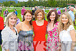 Sharon Farrell, Ann Mulligan, Kelly Kearney, Tonya Farrell and Linda Kearney enjoying a girls day at the Killarney races on Monday..
