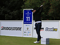 Benjamin Poke (DEN) on the 11th tee during Round 1 of the Northern Ireland Open at Galgorm Castle Golf Club, Ballymena Co. Antrim. 10/08/2017<br /> Picture: Golffile | Thos Caffrey<br /> <br /> <br /> All photo usage must carry mandatory copyright credit     (&copy; Golffile | Thos Caffrey)