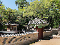 UIduhap im Secret Garden = Huwon= Biwon des Changdeokgung Palast, Seoul, S&uuml;dkorea, Asien, UNESCO-Weltkulturerbe<br /> Uiduhap   in the secret garden of  palace Changdeokgung,  Seoul, South Korea, Asia UNESCO world-heritage