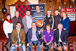 Killarney Mayor Bobby O'Connell launched the St Mary's basketball club annual Christmas basketball blitz in the River Island Hotel on Saturday night front row l-r: Jim Garvey Garveys Supervalu, Mayor Bobby O'Connell, Pat O'Connor DenJoes American Style, Donal O'Connor Tournament director. Back row: Joan Nolan, Eamon O'Connor, James Lyons, Maurice Casey, Vince Barry, Neilus Lyons and Jennifer Roche
