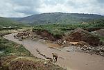 Tungsten mining in western Rwanda. This  mineral rich part of Africa