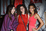 Fine artist, dancer, actress, Cajai Fellows Johnson (right) poses with her friends, during the Art of Persuasion event at Beautique on 8 West 58 Street, in New York City on November 19, 2016.
