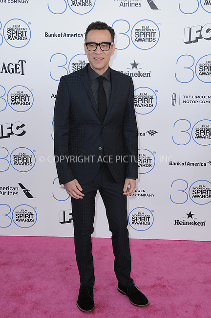 WWW.ACEPIXS.COM<br /> <br /> February 21 2015, LA<br /> <br /> Fred Armisen arriving at the 2015 Film Independent Spirit Awards at Santa Monica Beach on February 21, 2015 in Santa Monica, California.<br /> <br /> By Line: Peter West/ACE Pictures<br /> <br /> <br /> ACE Pictures, Inc.<br /> tel: 646 769 0430<br /> Email: info@acepixs.com<br /> www.acepixs.com