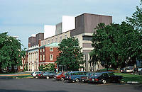 Cambridge: Harvard University  Science Center, North (rear).  Against Standard Neo-Georgian. Photo '88.