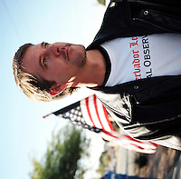 Chris Simcox, President of the Minutemen Civil Defense Corps Project.Phoenix, AZ.12/10/05.photos: Hector Emanuel
