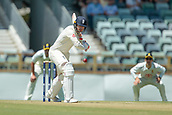 November 4th 2017, WACA Ground, Perth Australia; International cricket tour, Western Australia versus England, day 1; Englands Mark Stoneman lets one go through the off side during his innings
