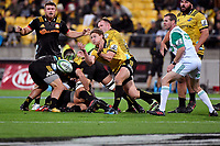 Hurricanes' Richard Judd in action during the Super Rugby - Hurricanes v Chiefs at Westpac Stadium, Wellington, New Zealand on Friday 13 April 2018.<br /> Photo by Masanori Udagawa. <br /> www.photowellington.photoshelter.com